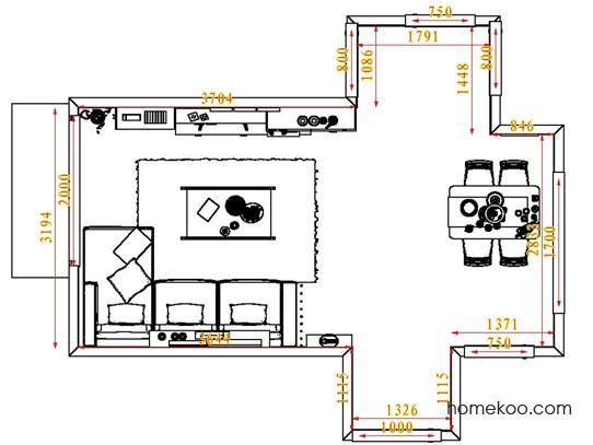 平面布置图贝斯特系列客餐厅G6697