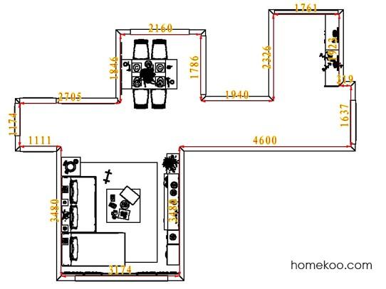 平面布置图格瑞丝系列客餐厅G6715