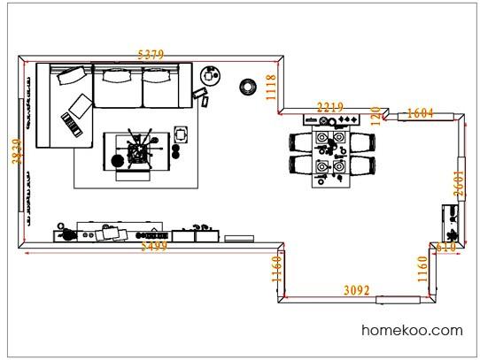 平面布置图德丽卡系列客餐厅G6718