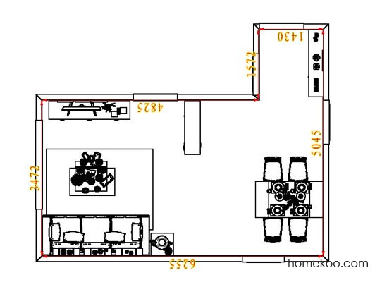 平面布置图乐维斯系列客餐厅G6719
