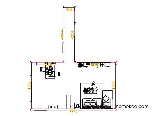 平面布置图贝斯特系列客餐厅G6727