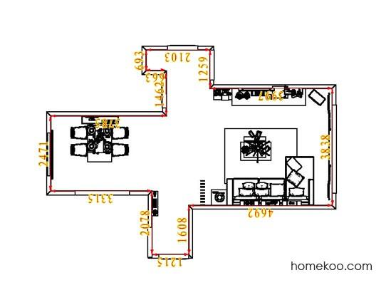 平面布置图柏俪兹系列客餐厅G6739