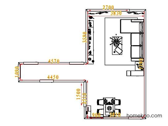平面布置图贝斯特系列客餐厅G6743