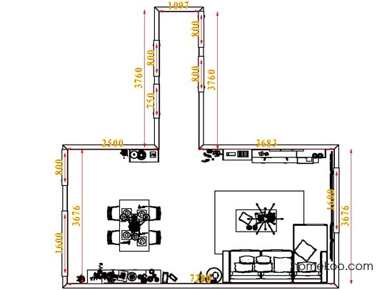 平面布置图乐维斯系列客餐厅G6745