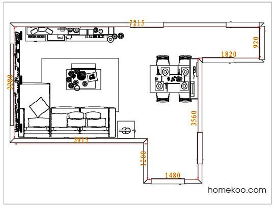 平面布置图德丽卡系列客餐厅G6751