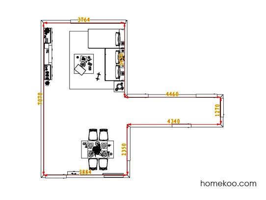 平面布置图斯玛特系列客餐厅G6754