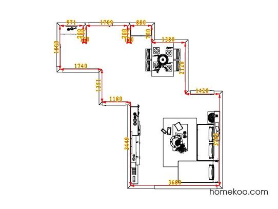平面布置图德丽卡系列客餐厅G6756