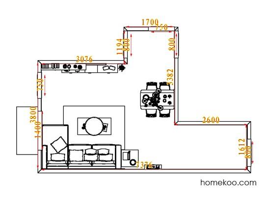 平面布置图乐维斯系列客餐厅G6760