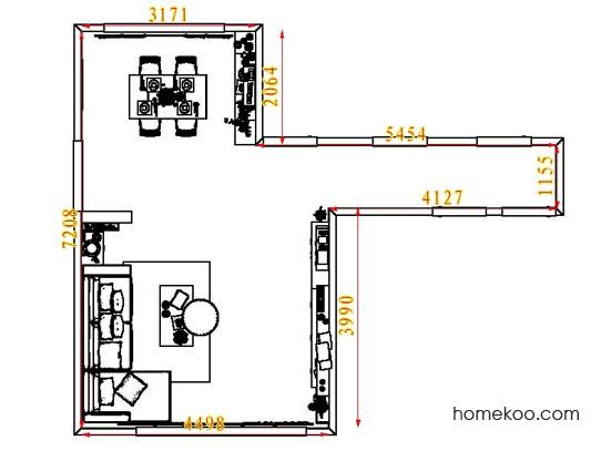 平面布置图乐维斯系列客餐厅G6761