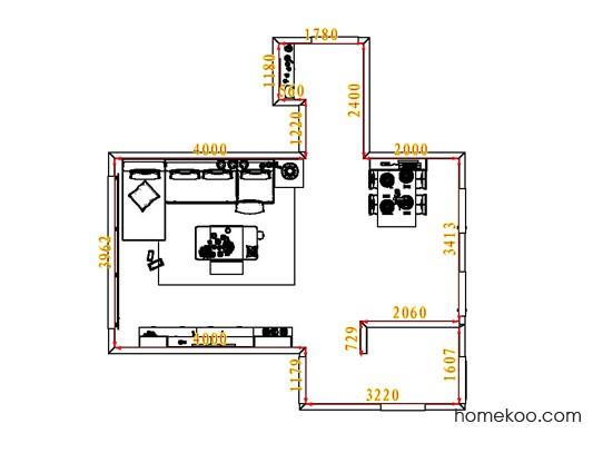 平面布置图斯玛特系列客餐厅G6763