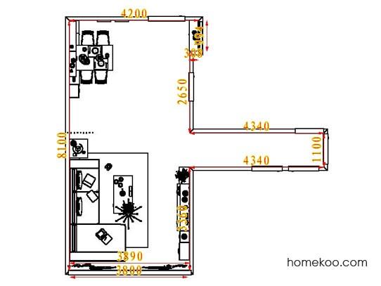 平面布置图贝斯特系列客餐厅G6764