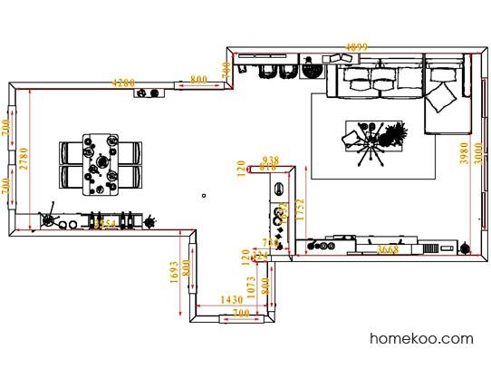 平面布置图贝斯特系列客餐厅G6766