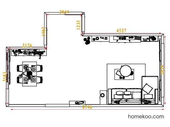 平面布置图贝斯特系列客餐厅G6769