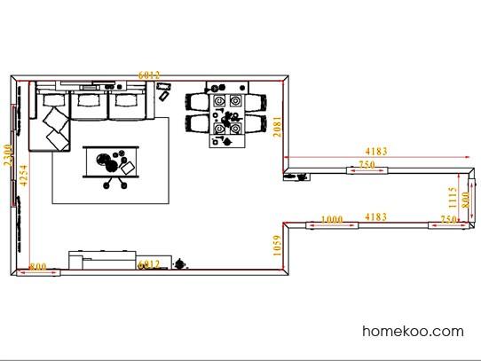平面布置图柏俪兹系列客餐厅G6776
