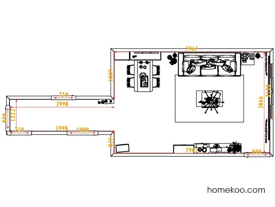 平面布置图斯玛特系列客餐厅G6777