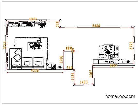 平面布置图贝斯特系列客餐厅G6781