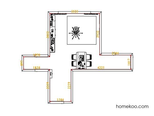 平面布置图斯玛特系列客餐厅G6784