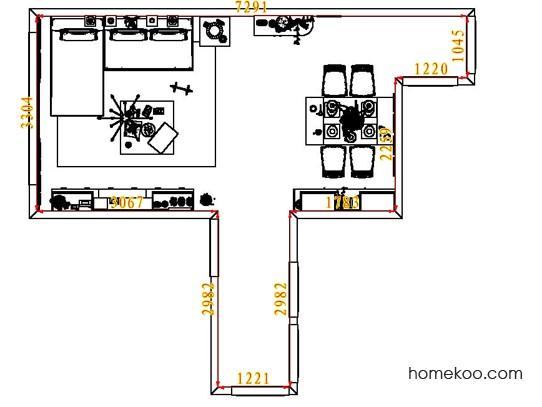 平面布置图乐维斯系列客餐厅G6788