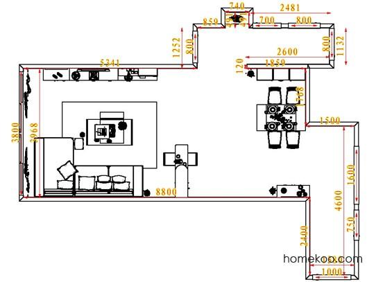平面布置图贝斯特系列客餐厅G6803