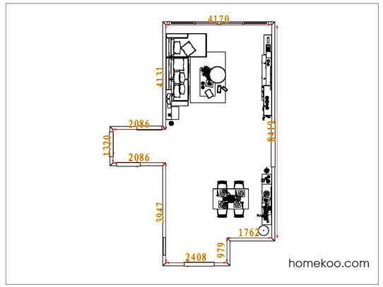 平面布置图斯玛特系列客餐厅G6809