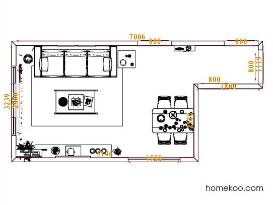 平面布置图格瑞丝系列客餐厅G6816