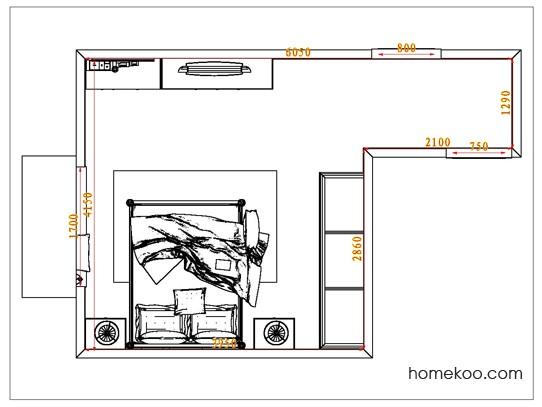 平面布置图乐维斯系列卧房A6847