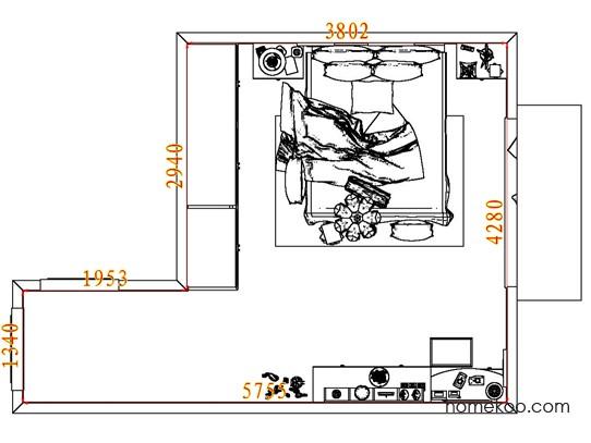 平面布置图柏俪兹系列卧房A6851