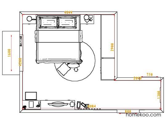 平面布置图柏俪兹系列卧房A6853