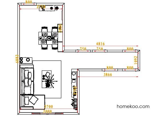 平面布置图贝斯特系列客餐厅G6826