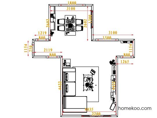 平面布置图柏俪兹系列客餐厅G6828