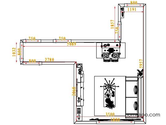 平面布置图斯玛特系列客餐厅G6829