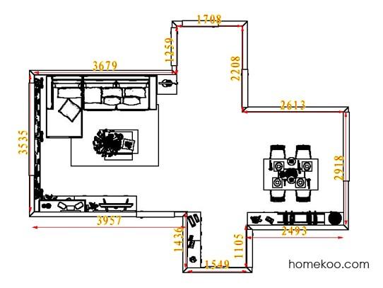 平面布置图格瑞丝系列客餐厅G6840