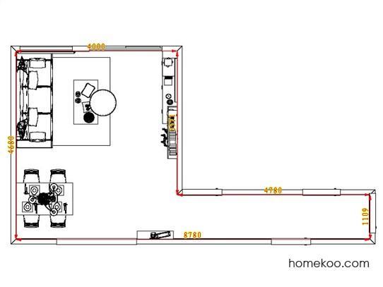 平面布置图贝斯特系列客餐厅G6860