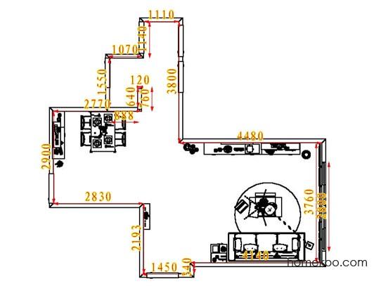 平面布置图柏俪兹系列客餐厅G6866
