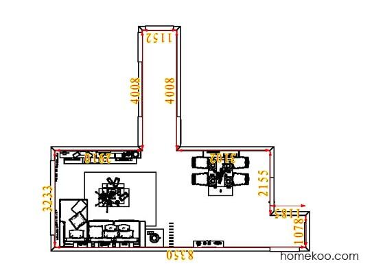 平面布置图德丽卡系列客餐厅G6872