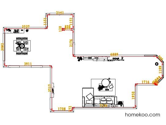 平面布置图柏俪兹系列客餐厅G6877
