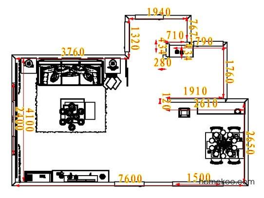 平面布置图斯玛特系列客餐厅G6881