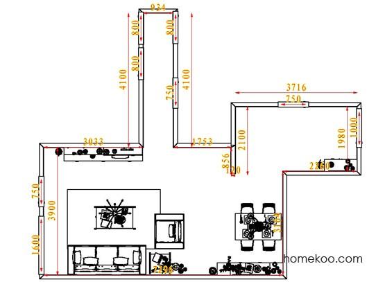 平面布置图柏俪兹系列客餐厅G6883