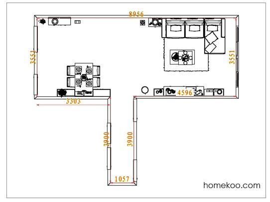 平面布置图乐维斯系列客餐厅G6884