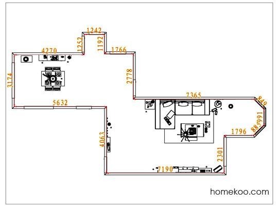 平面布置图乐维斯系列客餐厅G6889