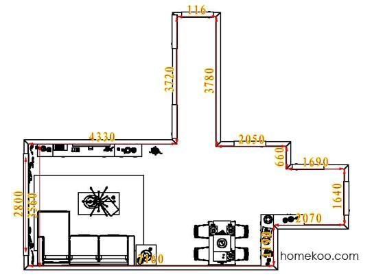 平面布置图斯玛特系列客餐厅G6894