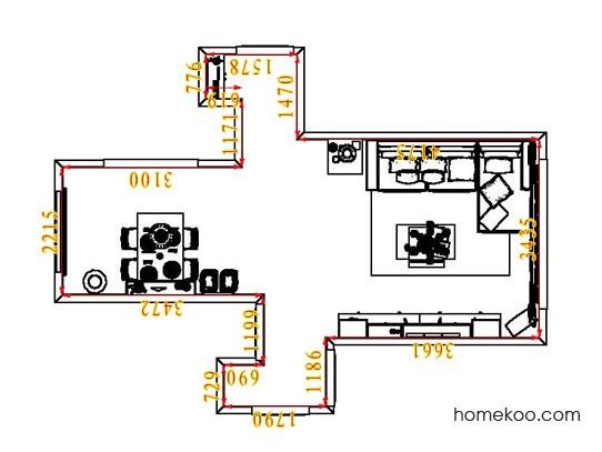 平面布置图德丽卡系列客餐厅G6897