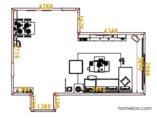 平面布置图斯玛特系列客餐厅G6903