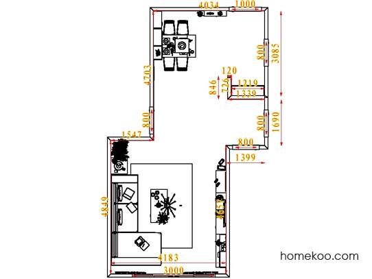 平面布置图柏俪兹系列客餐厅G6902