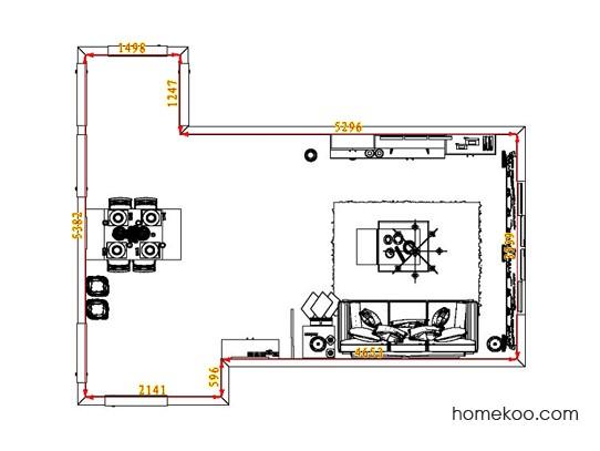 平面布置图柏俪兹系列客餐厅G6907