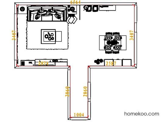 平面布置图斯玛特系列客餐厅G6919
