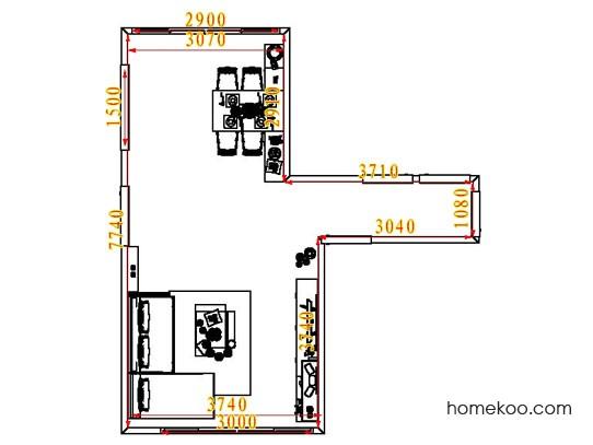 平面布置图乐维斯系列客餐厅G6921