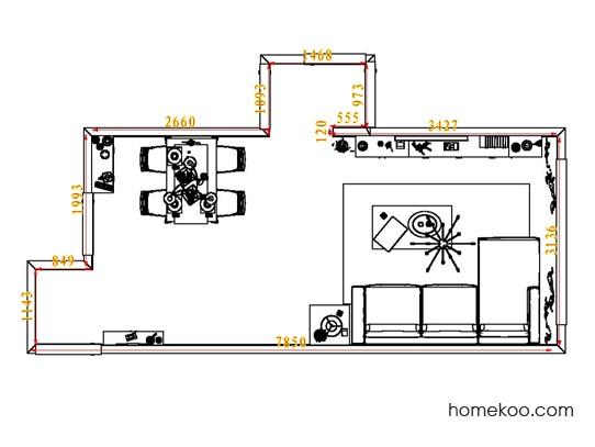 平面布置图乐维斯系列客餐厅G6923