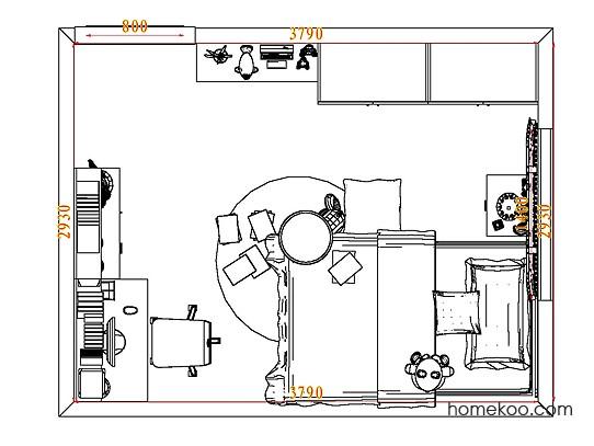 平面布置图乐维斯系列青少年房B6804