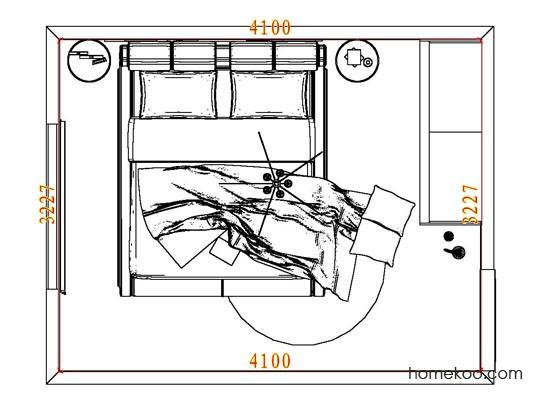 平面布置图斯玛特系列卧房A6897